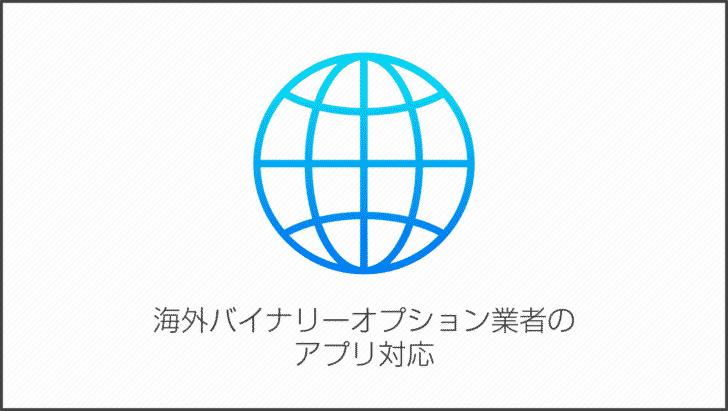海外バイナリーオプション業者のアプリ対応