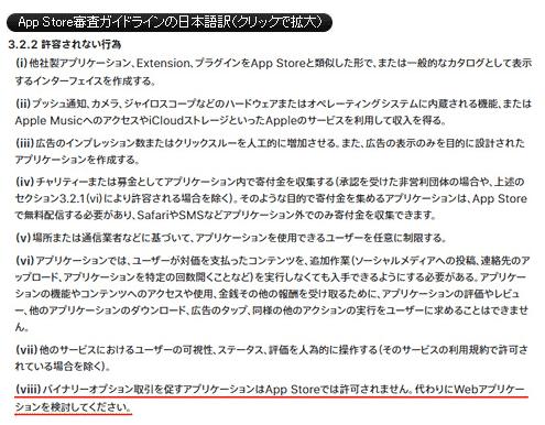 App Store審査ガイドライン