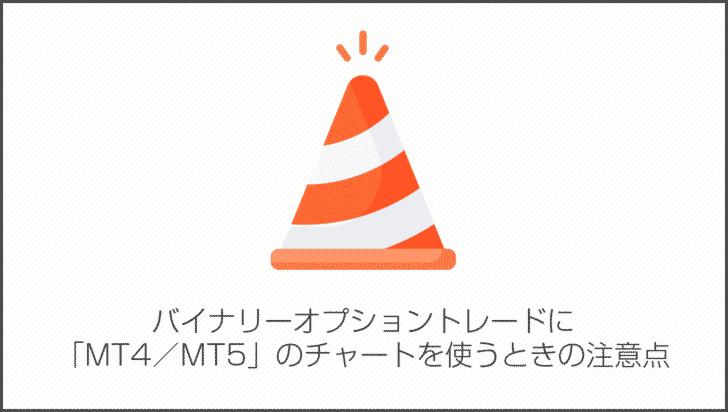 バイナリーオプショントレードに「MT4/MT5」のチャートを使うときの注意点