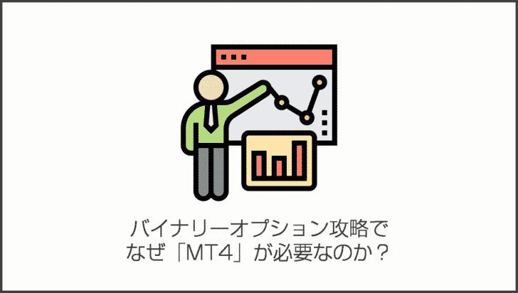 バイナリーオプション攻略で、なぜ「MT4」が必要なのか?